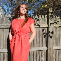 A coral dress from filia. | photo from Kate O' Toole.
