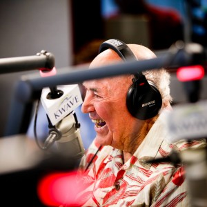 "Chuck Smith, seen here hosting a recent radio show, was founder of the Calvary Chapel church movement in 1968, which spawned the ""Jesus People"" movement of the early 1970s in California. While his legacy is expositional (verse-by-verse) preaching through the Bible, his churches are credited with influencing the casual atmosphere and high-energy music of the modern American worship service found in a variety of contemporary evangelical churches today. He died October 3rd, 2013 after a battle with lung cancer."