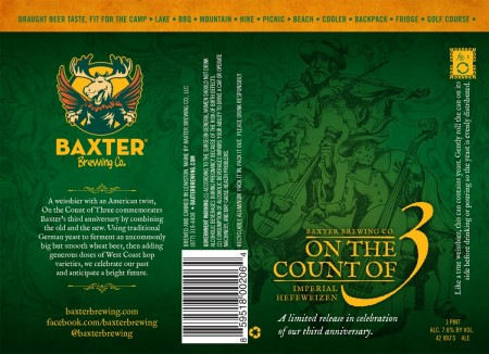 Baxter Brewing Co On the Count of 3