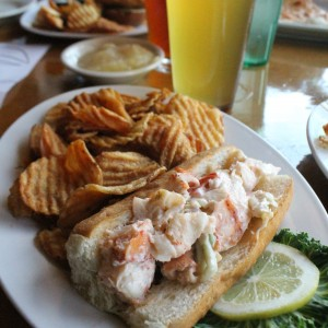 Lobster Roll w/Andy's Golden Ale