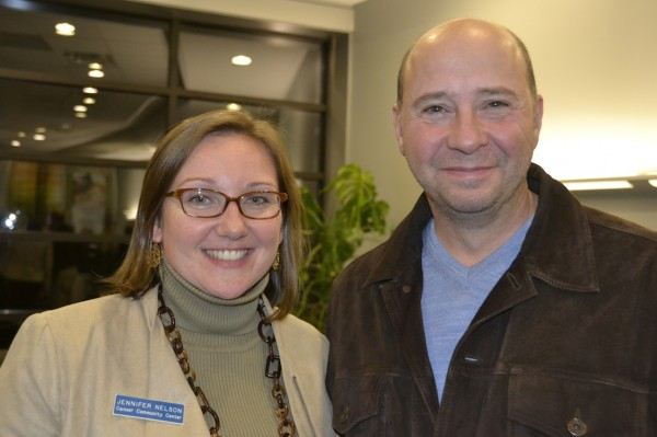 Dave Langdon, volunteer, with Jennifer Nelson, CCC Development Director