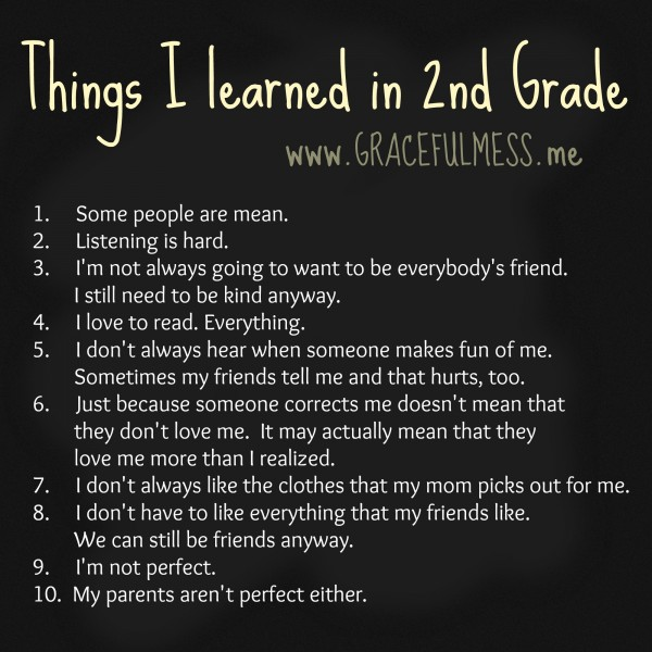 Things I learned in 2nd Grade
