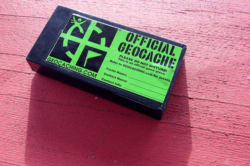 A typical geocache
