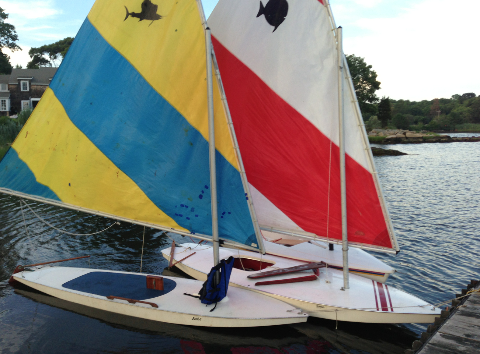 Launched, rigged and the sail is unfurled and ready to sail!