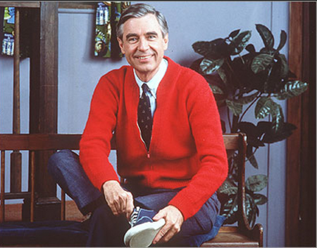 "I agree with Fred Rogers! ""Every body is fancy. Every body is fine. Your body's fancy and so is mine!"""