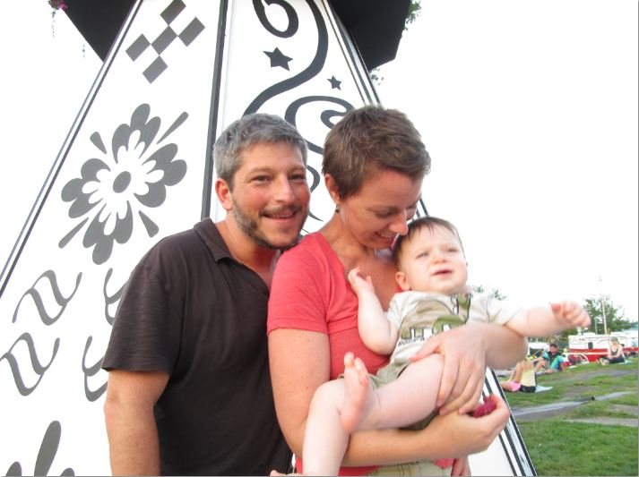 OK, so there are a couple of these I snuck in myself... I saw the cute baby and couldn't help myself. There's father Glenn Greenstein, mother Rebecca Cague and little 10-month-old Liam Greenstein. Thanks for letting me intrude on your family time, guys -- looks like you were having fun!