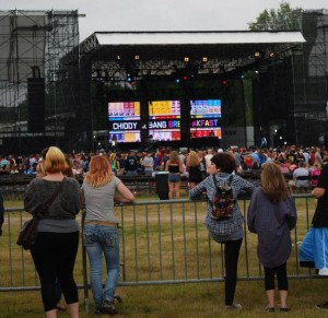 An estimated 6,000 fans attended this 2012 concert headlined by Wiz Khalifa and Mac Miller at Scarborough Downs. (The Forecaster photo by David Harry)