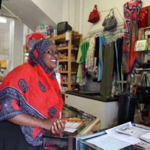 Marian Abu, a Somali immigrant and an owner of the Jazeera Market on Congress Street in Portland. (BDN photo by Kirsten Sylvain)