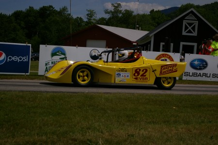 The Sacramento, Pennsylvania based Entopy Racing Electric Racecar driven by Tim O'Neil set the new standard for future electric powered cars racing up the hill at Mount Washington 7:28:92.