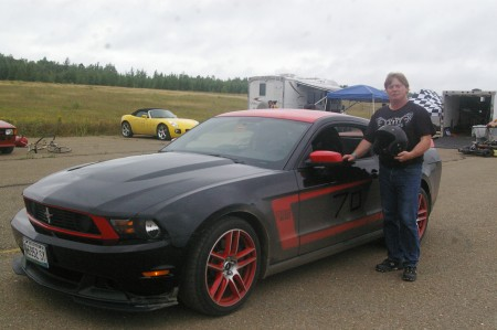 Garth Johnson of Mapleton is one of the local favorites with his 2012 Boss 302 Laguna Seca Mustang