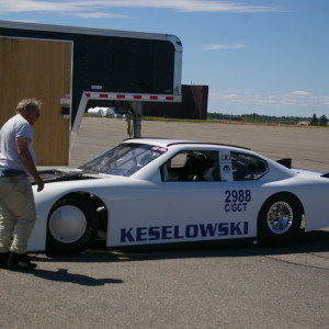 Bob Keselowski prepares his Dodge Charger for it's next run at Loring. The car has an older SB2 engine with a single 4 barrel carb without any power adding additions yet was able to approach the 250 mph mark. HTF Motorsports photo