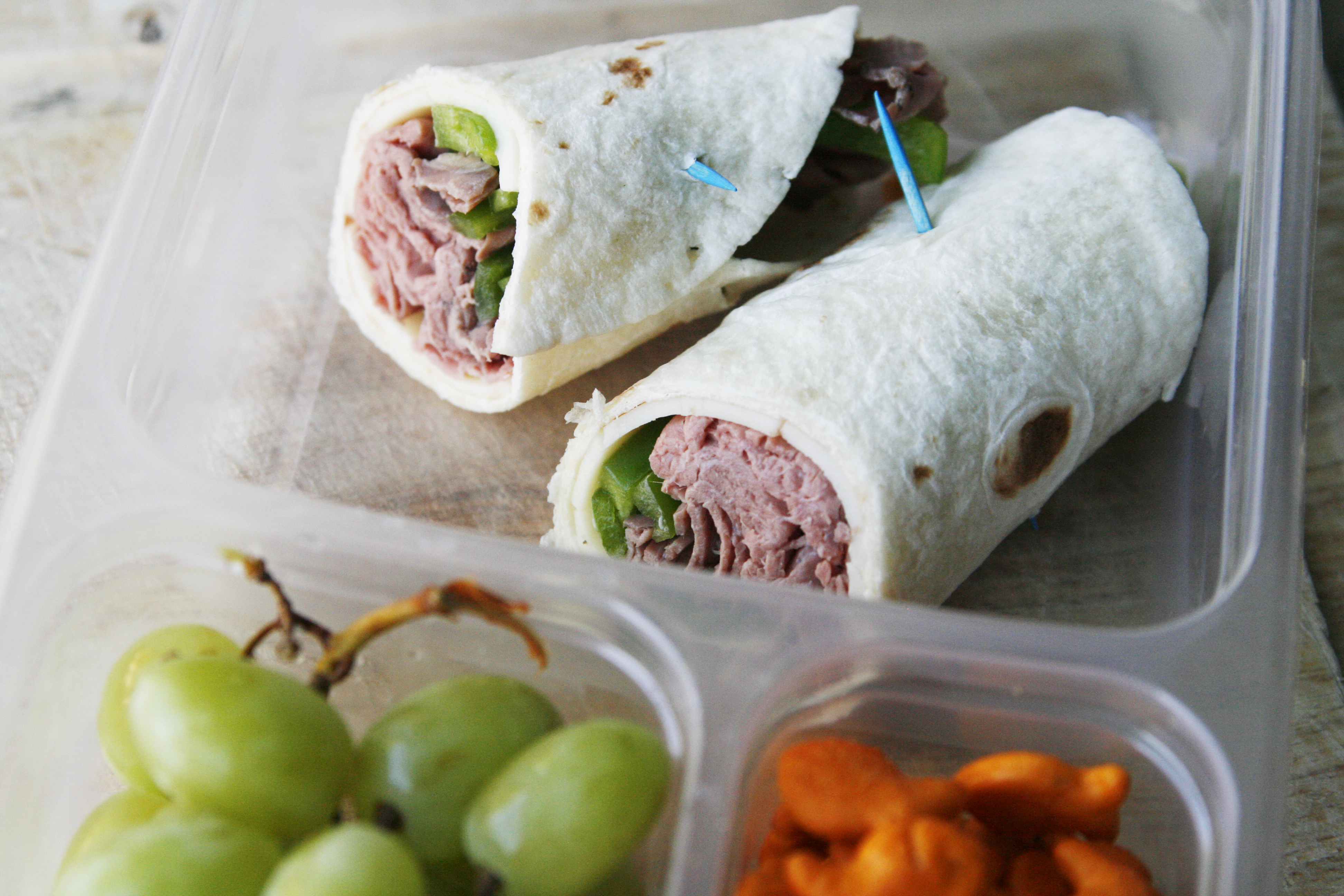 Roast Beef Wrap for Lunch Boxes