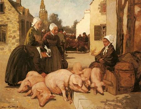 """Selling Livestock,"" Charles Cottet"