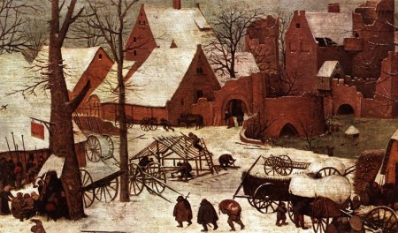 The ruined castle in the far distance of Bruegel's painting was based on the towers and gates of Amsterdam.