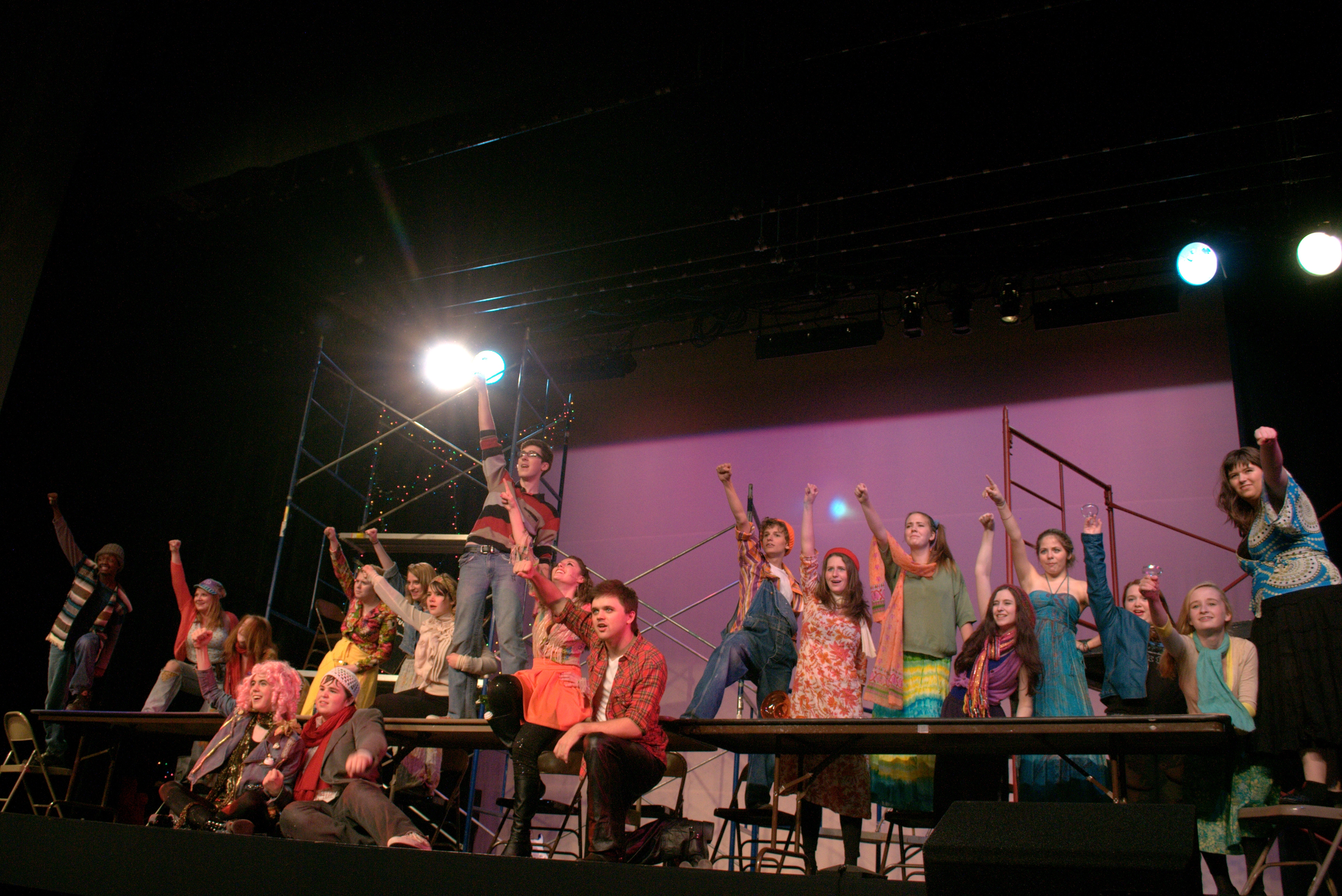 Dramatic Academy Young Adult Ensemble performs RENT, summer 2013. (photo courtesy c2k).