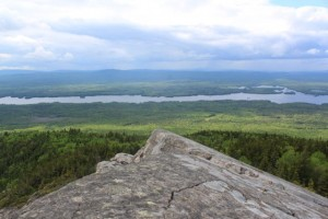 BDN photo by Aislinn Sarnacki. A view from the top of Eagle Rock in Big Moose Township on June 9, 2013.