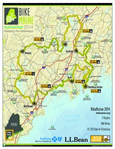 The 2014 BikeMaine route