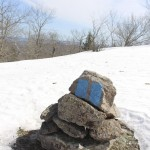 A cairn with a blaze -- you shouldn't wander off trail.