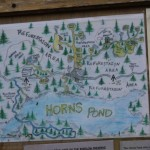 The map at Horns Pond Lean-tos.