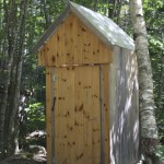 One of the outhouses on the property.
