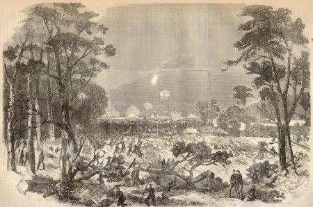Union troops attack Confederate fortifications at Port Hudson, La. in spring 1863. A few Maine infantry regiments participated in the siege of Port Hudson, which along with Vicksburg was a Confederate-held post denying Union ships unhindered access to the Mississippi River. (Harper's Weekly)