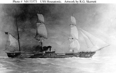 Orland sailor John K. Crosby was stationed aboard the USS Housatonic in February 1864. (U.S. Navy Photo)