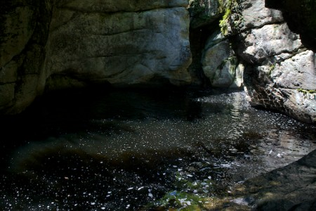 The lower pool at Kezar Gorge in Lovell. (Bangor Daily News photo by Troy R. Bennett)