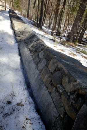 The famous twisted stone wall in New Durham, N.H. Troy R. Bennett | BDN