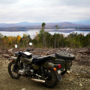 My Soviet Steed sits trailside overlooking Flagstaff Lake from the north. Troy R. Bennett | BDN