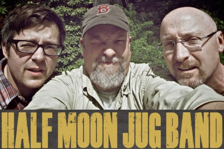 Jeff, Troy and Steve are the Half Moon Jug Band.