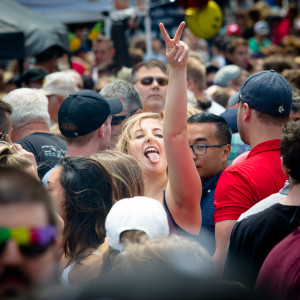 Thousands of people swarm Fore Street in Portland on Sunday during the 43rd annual Old Port Festival. Troy R. Bennett | BDN