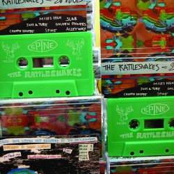 For their newest release 'Spine', Portland garage-punk's The RattleSnakes distributed the album on cassette