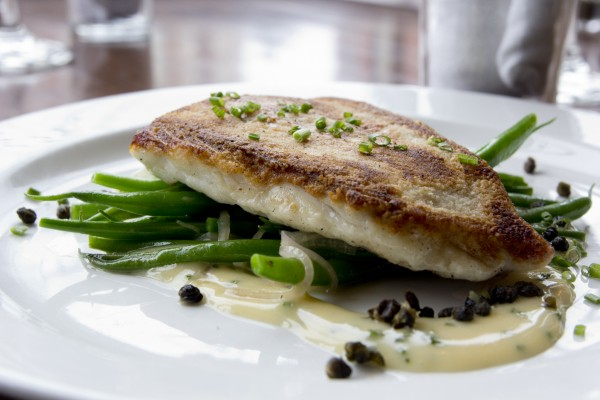 Petite Jacqueiline's fluke meuniere, one of three available second courses available during Maine Restaurant Week.