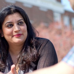 Roya Hejabian sat down with The Free Press in front of Payson Smith Hall in Portland to discuss her experiences in Iran, Maine and at USM.