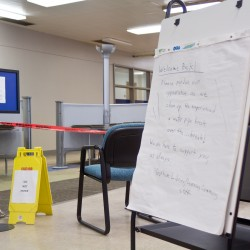 The library in Bailey Hall has been open and  providing its normal range of services throughout the first week of school with the exception of the Martin Luther King day weekend, despite the flooding in early January caused by a pipe bursting from the cold.