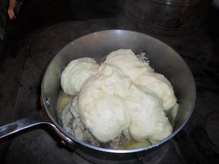 Janet's lovely, puffy dumplings.