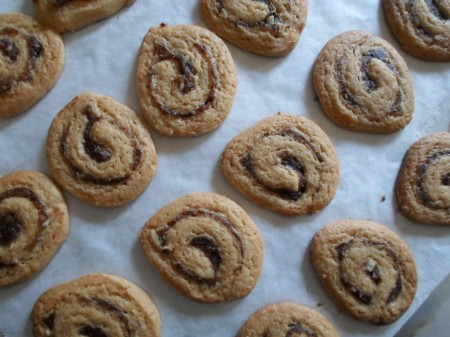 Date nut filled cookies are chewy and buttery.