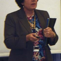 SAD 40 Superintendent Susan Pratt details her proposed 2012-2013 budget during the Jan. 31 district board meeting.