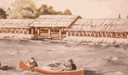 This drawing shows how Lock Dam looked from 1920 through the 1940s.