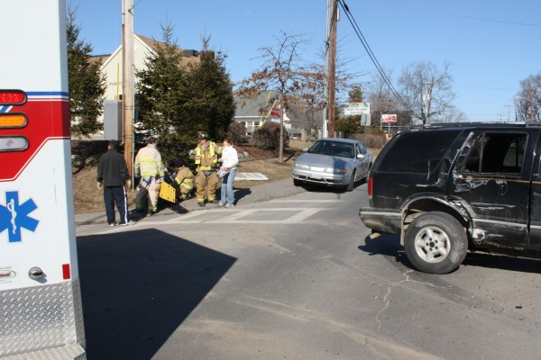 Rockland police and emergency medical crews responded Wednesday, Feb. 8, to a car crash at the intersection of Camden Street and Waldo Avenue in Rockland.