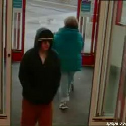 A man who is suspected of robbing a CVS Pharmacy on Kennedy Memorial Drive in Waterville on Sunday, March 25, 2012.