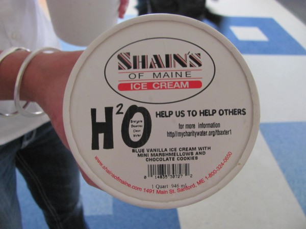 Sanford-based ice cream maker Shain's of Maine is working with a class of fourth-graders at Fisher Mitchell School in Bath to raise money for a drinking water project in the third world.