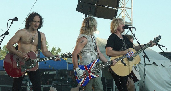 Def Leppard performs in Minot, North Dakota in July 2007.