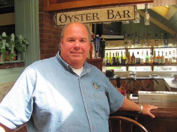 Todd Maurer, who owns King Eider's Pub in Damariscotta along with his