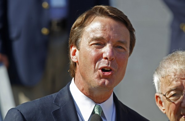 Ex-presidential candidate John Edwards speaks outside a federal courthouse after the jury's verdict in his trial on charges of campaign corruption in Greensboro, N.C., Thursday, May 31, 2012. Edwards thanked jurors and his family after a mistrial was declared in his campaign corruption trial and says he is responsible for his sins.