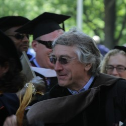 Robert De Niro at the Bates College commencement in Lewiston, Maine, Sunday, May 27, 2012.