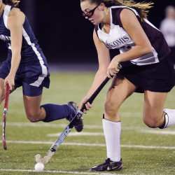 Maine's Gingrich trading in her bat for field hockey stick