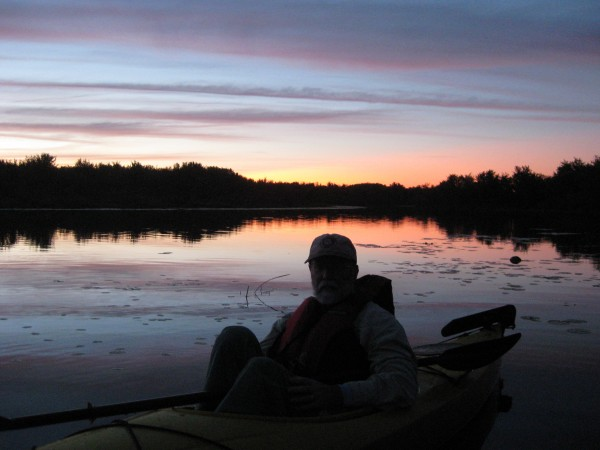 Sunset at Pushaw Stream during the Full Moon Paddle, September 8 2011.