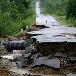 Flooding forces closure of roads, bridges in The County