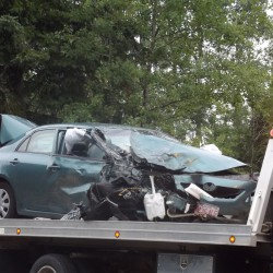 Three hospitalized after two-vehicle collision on Route 1 in Columbia Falls